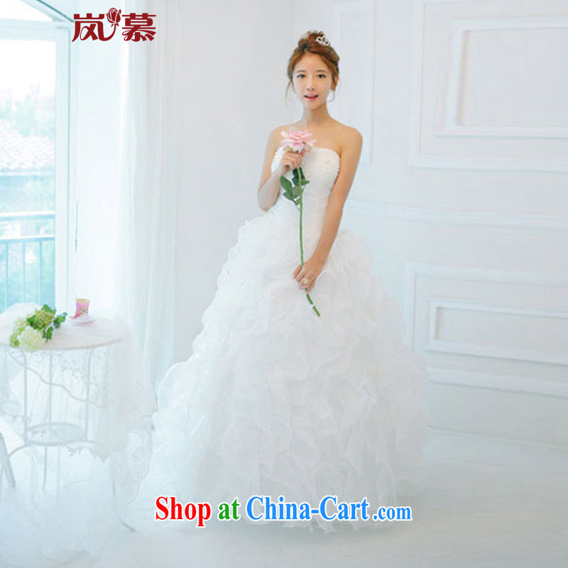 LAURELMARY sponsors the 2015 new Korean lovely Princess dress shaggy dress small winding-up wedding dresses white Custom size (please contact Customer Service)