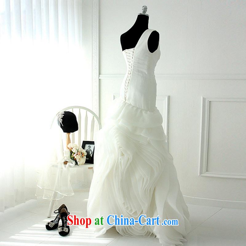 LAURELMARY sponsors the 2015 new Wang Pico design style beauty in Europe and America, with soft ice woven roses wedding white Custom size (please contact customer service, sponsors, and shopping on the Internet