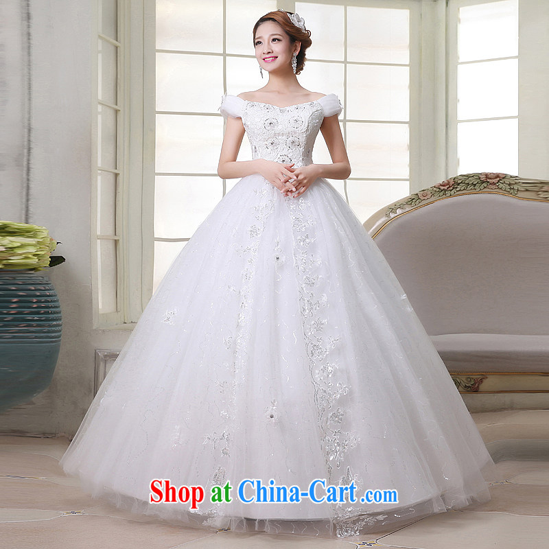 It is not a winter bride Korean dress 2015 new Princess shaggy skirt the Field shoulder wedding dresses White made is not returned.