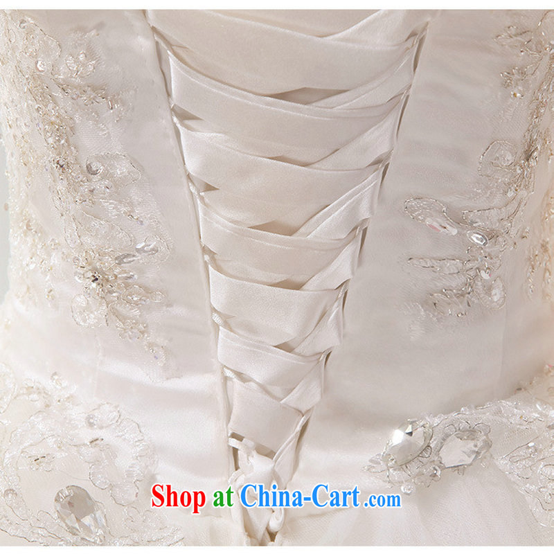 Optimize Hung-stylish new erase chest Luxury Water drilling, with wedding Princess Korean wedding dresses video thin graphics high XS 7166 M white S, optimize, and shopping on the Internet