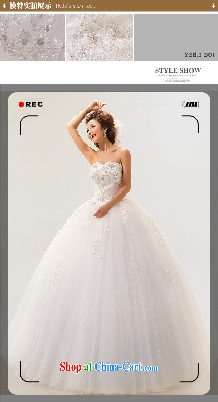Optimize video stylish new erase chest Luxury Water drilling, with wedding Princess Korean wedding dresses video thin graphics high XS 7166 M white S pictures, price, brand platters! Elections are good character, the national distribution, so why buy now enjoy more preferential! Health