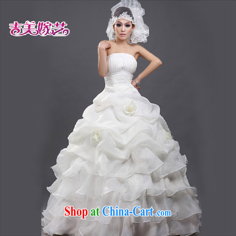 Vladimir Putin, and the wedding dresses Jimmy married arts 2013 new erase chest Korean shaggy dress with HS 102 bridal wedding ivory M