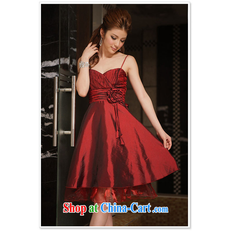 spring and summer are obsessed with touching the fold manually take dress dresses wine red XXXL