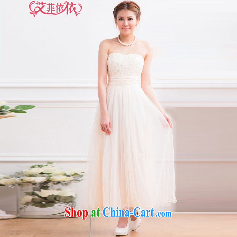 The parting, long the waist bare chest shaggy dress skirt 2015 Korean marriage banquet bridal wedding chair bows wrapped chest dress 4812 light purple XL, the parting, and shopping on the Internet