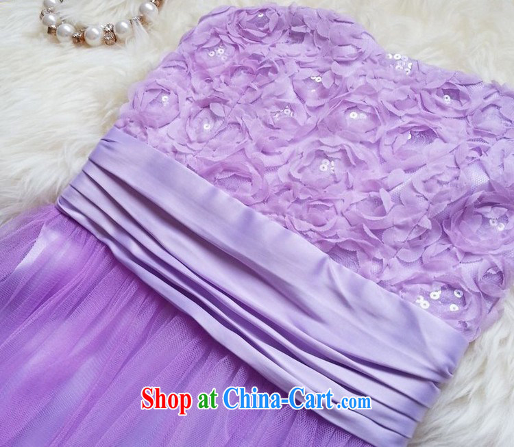 The parting, long the waist bare chest shaggy dress skirt 2015 Korean wedding banquet bridal wedding chair bows wrapped chest dress 4812 light purple XL pictures, price, brand platters! Elections are good character, the national distribution, so why buy now enjoy more preferential! Health