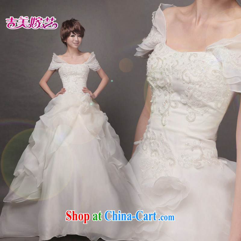 Vladimir Putin, and the wedding dresses Jimmy married arts 2015 new bag shoulder Korean Princess dress with HS 2005 bridal wedding ivory S