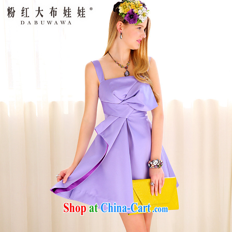Evening Dress new pink large doll Purple, the bowtie small dress skirt dress 39 S YB purple L