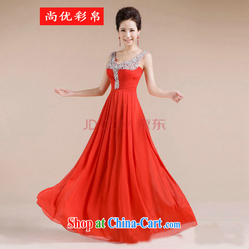 It is also optimized condolence new V collar design manual diamond jewelry sexy beauty dress XS 7139 red XXL
