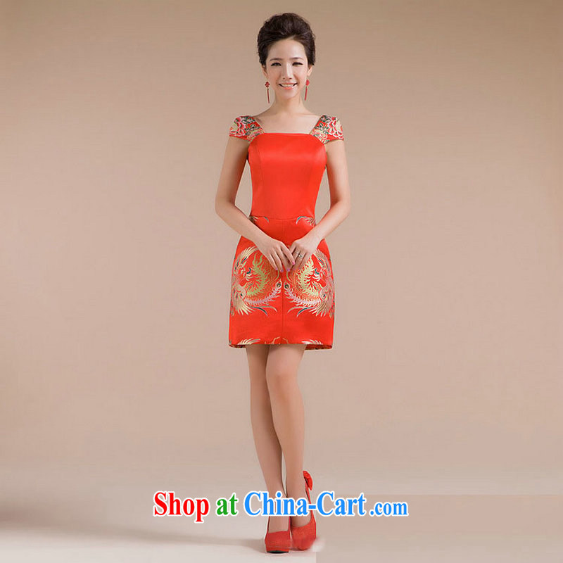 It is also optimized condolence New floral straps warranty waist Phoenix embroidered trim and skirt small dress XS 7133 red S