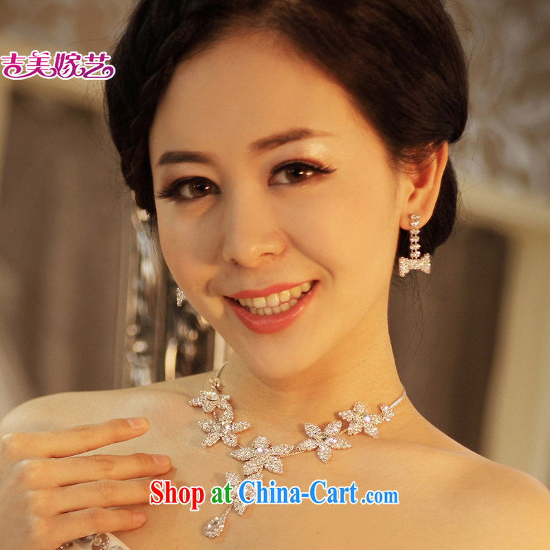 Bridal wedding dresses Accessories Kit Korean set link spend fairies water drilling jewelry 2014 new wedding jewelry silver ear pin