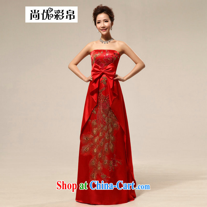 It is also optimized condolence new stylish bridal wedding dress uniform toast red wedding dresses maternity wedding dresses XS 7110 red XXL