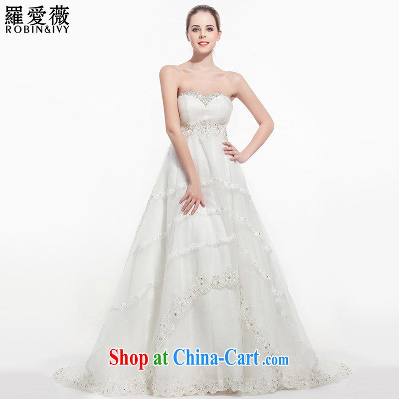 Love, Ms Audrey EU Yuet-mee, RobinIvy) wedding dresses 2015 new erase chest parquet drill cake dress up the princess tail wedding H 34,518 white tailored