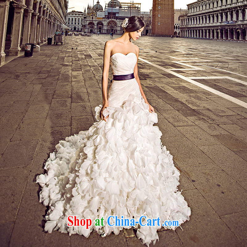 Garden 2015 Venice new wedding dresses s 21,432 erase chest crowsfoot tail bridal white wedding-tail 100 CM 173 - M