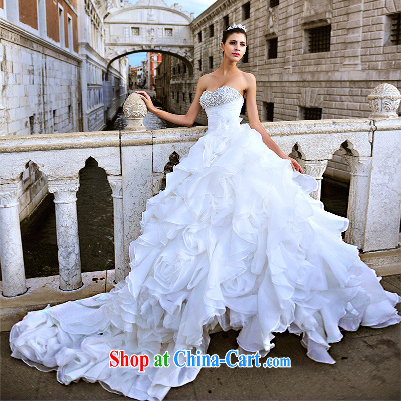 2015 Garden new MTF Venice only erase chest winter bridal dream wiped chest large tail wedding S 21,450 80 CM tail 173 - M