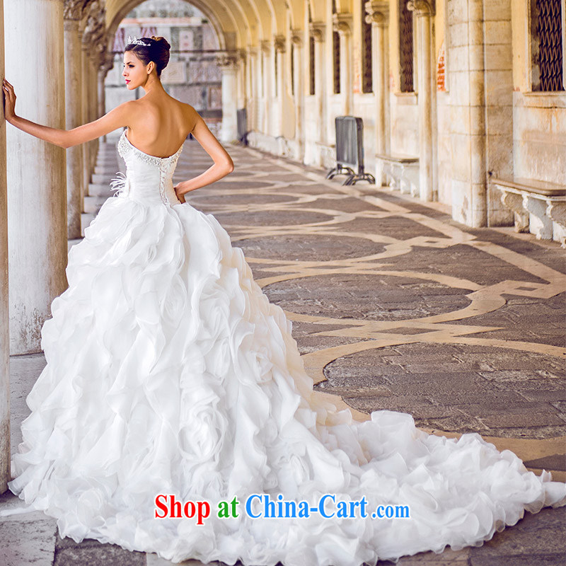 2015 full court, new MTF Venice only erase chest winter bridal dream wiped his chest large tail wedding S 21,450 80 CM tail 173 - M, garden, shopping on the Internet