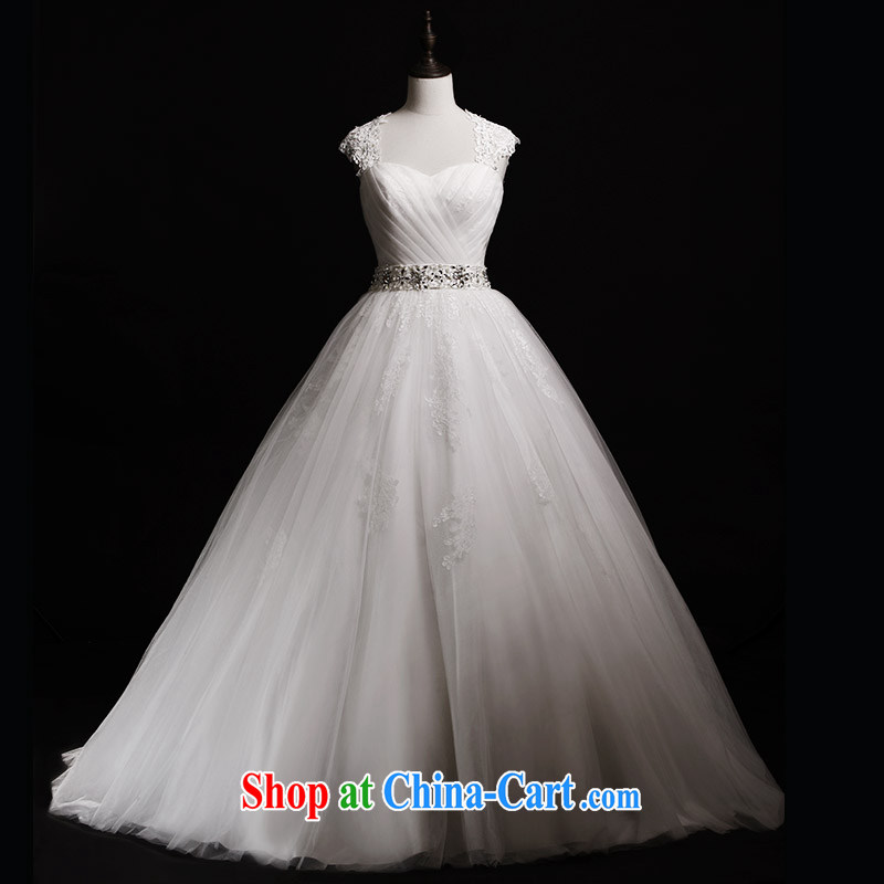 Garden 2015 new bridal wedding dresses S 40,201 shoulder wiped his chest shaggy tail white wedding winter with 173 - M