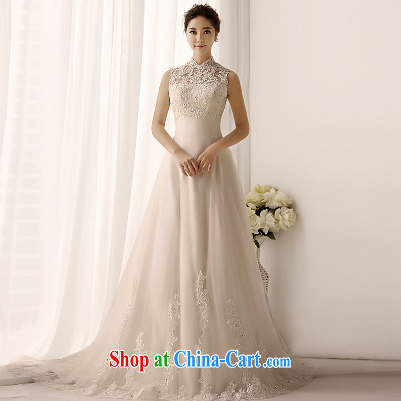 Garden 2015 new retro package shoulder wedding dresses 1399 S erase chest A swing lace trailing bridal wedding ivory tail 50CM tailor