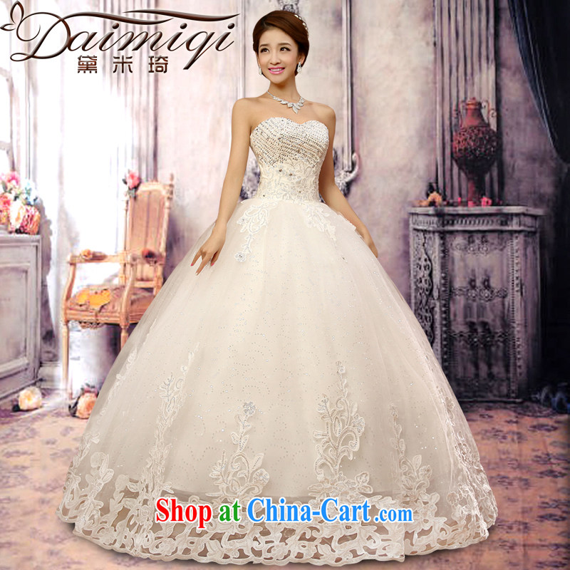 Diane M Ki wedding dresses 2014 new luxury, water drilling Korean Princess Mary Magdalene chest strap wedding winter Korean wedding white S