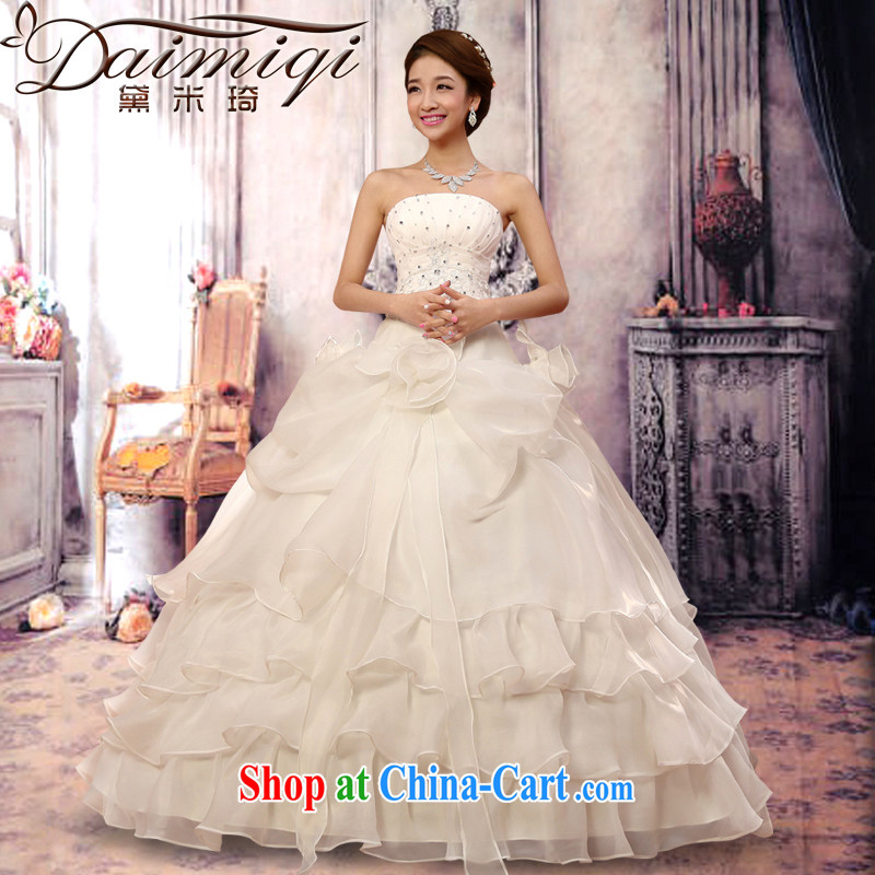 Diane M-kay bridal suite 2014 new sweet retro tied with a bare chest wedding dresses Korean version with Princess bride wedding European root yarn flouncing white S
