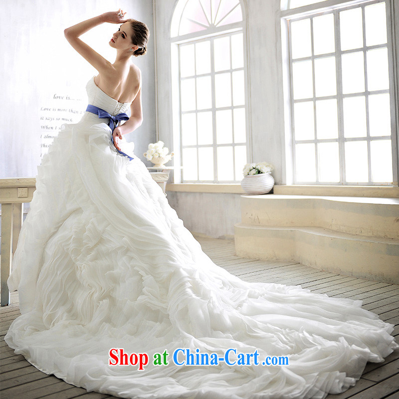 2015 new wedding in Europe and wipe the chest tail dream sweet to make wedding dresses S 1366 100 173 cm - M