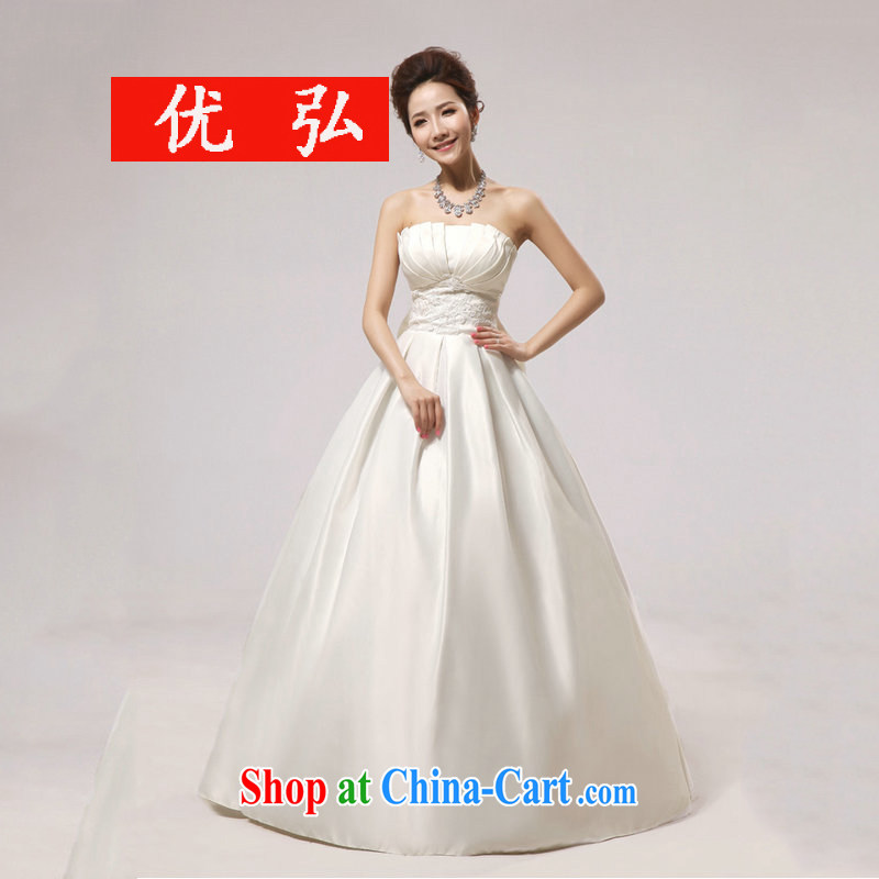 Optimize Hung-new Korean bridal wiped his chest, wedding dress shell graphics thin wedding dresses XS 8051 white XXL