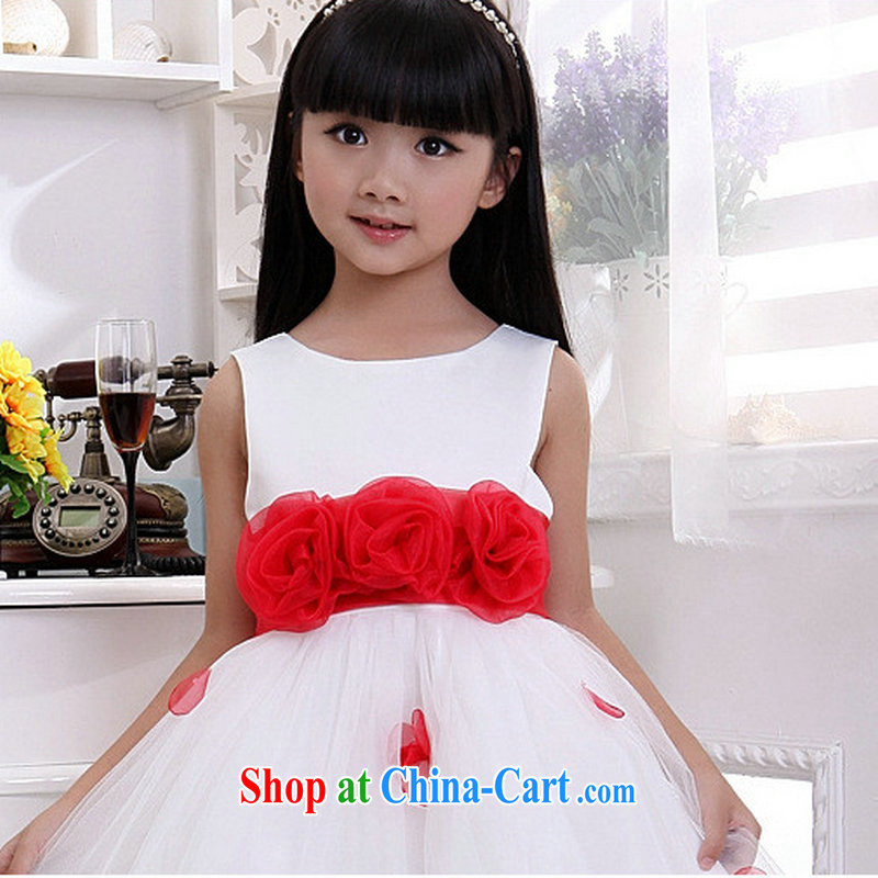 Optimize Hung-new uniforms Princess dress flower dress children wedding dresses XS 8045 white 10 yards
