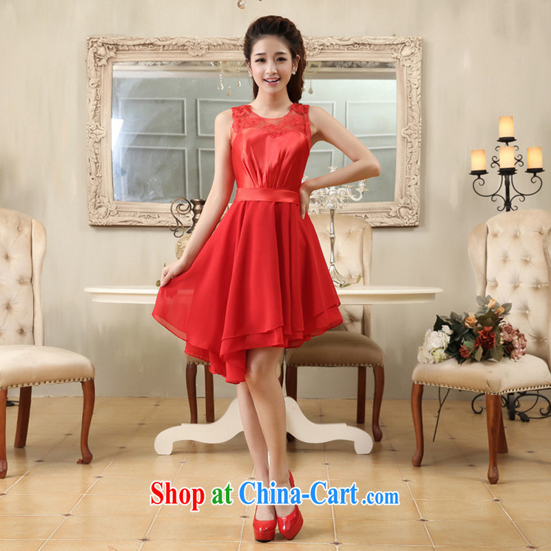 Optimize Hung-double-shoulder lace red elegant rules, with small dress bridal gown YH 10,011 red L