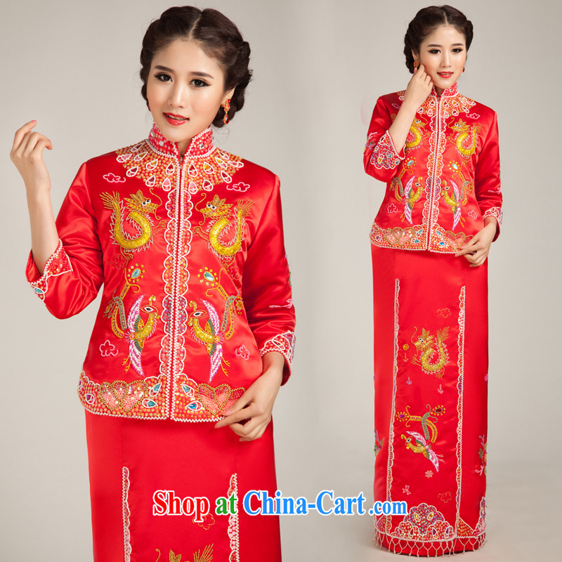 Moon �� guijin use phoenix bridal dresses and skirt of dress bridal dresses long Chinese Dress red M code from Suzhou shipping