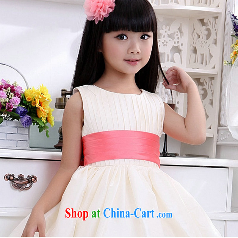 Optimize Hung-new children's show. Girls wedding dress wedding dresses 8054 XS light champagne color2 code