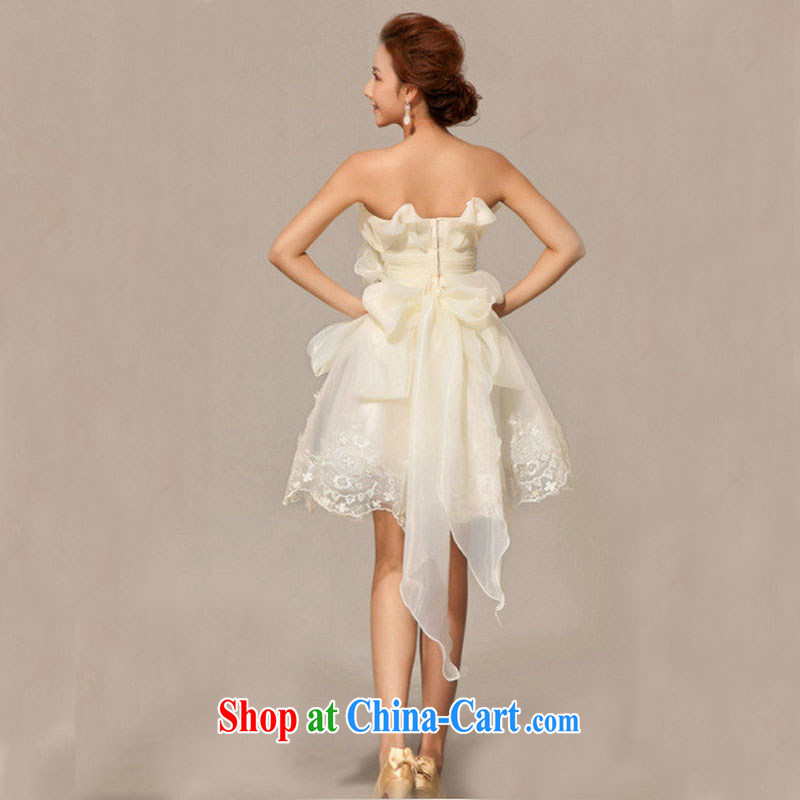 Optimize Hung-new Korean-style short erase chest bridesmaid dress uniform toast XS 8040 champagne color XXL, optimize, and shopping on the Internet