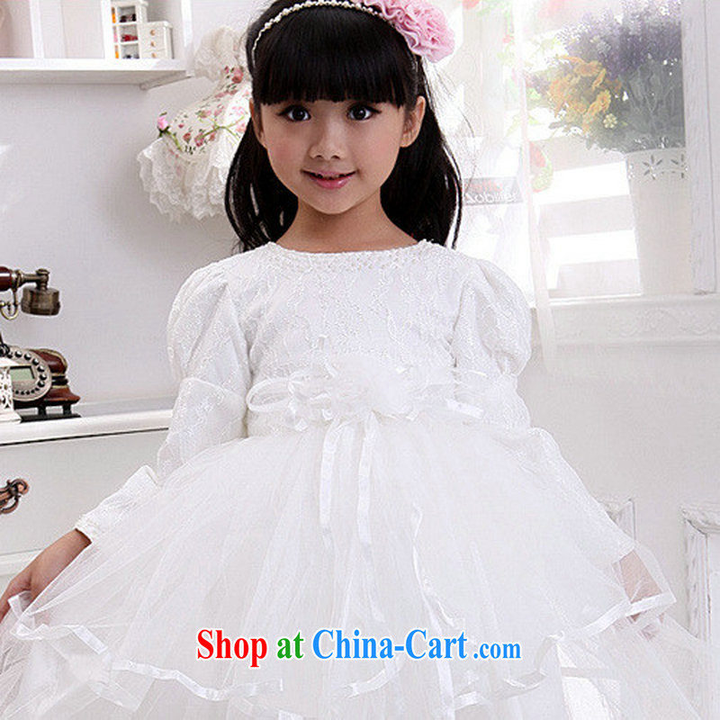 Optimize Hung-New flower shaggy skirts children show dress birthday Princess skirt XS 8041 white 10 yards, optimize, and shopping on the Internet