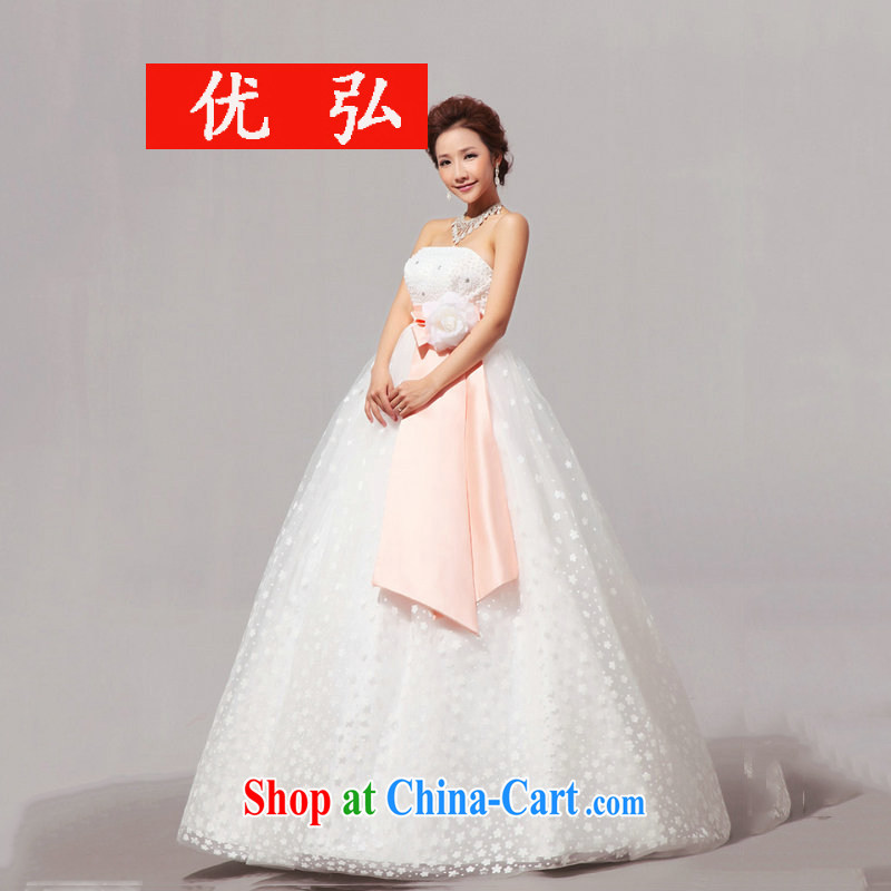Optimize Hung-new Korean-style ribbons pregnant women high waist with bare chest wedding XS 8050 white L