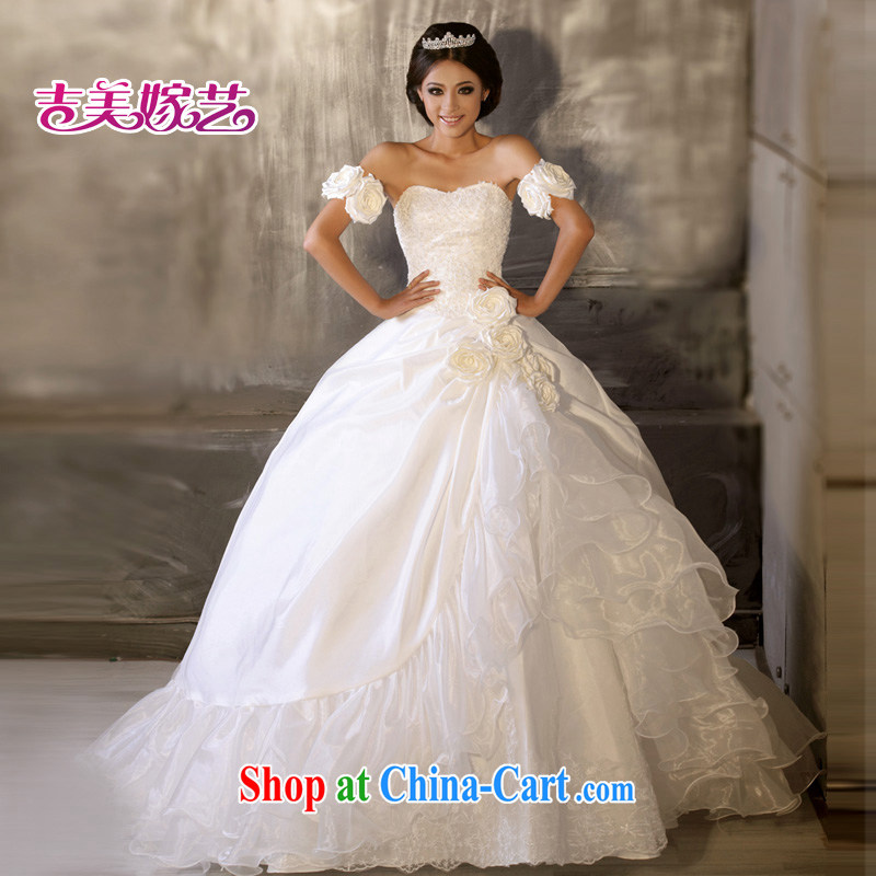 Vladimir Putin, and the wedding dresses Jimmy married arts 2015 new erase chest Korean Princess skirt 539 bridal wedding white less XXXL
