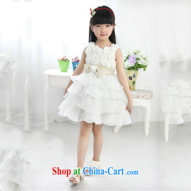 There are optimized color Kingfisher girls dress shaggy dress Korean Princess skirt High New XS 1008 white 10 yards