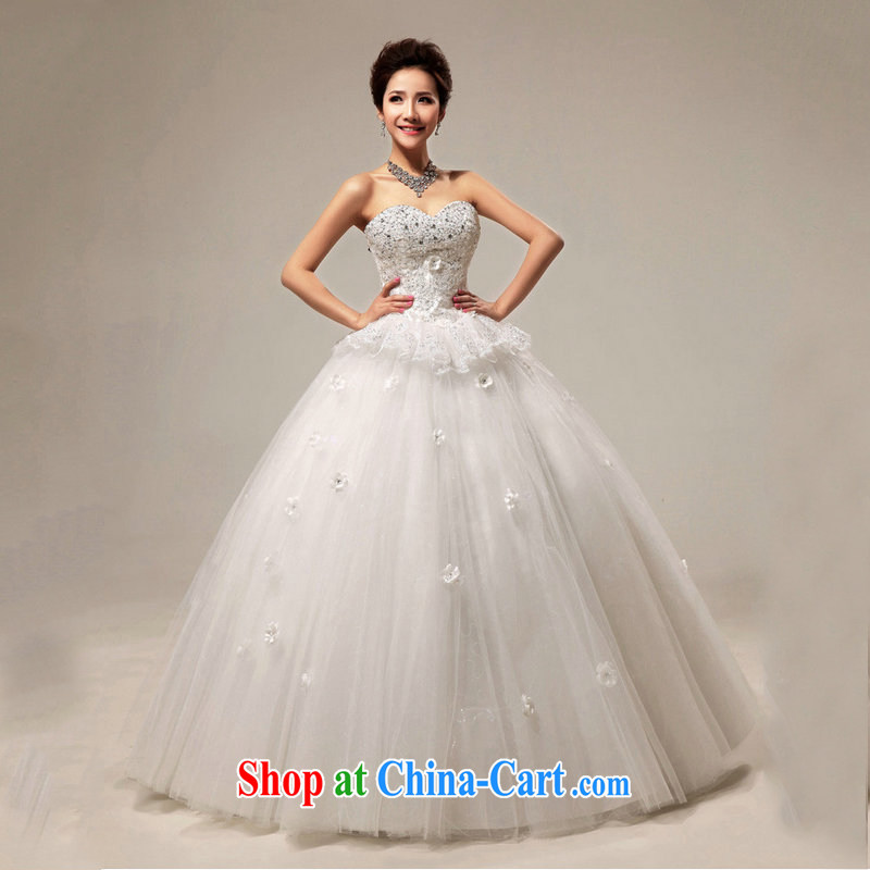 Optimize video new Korean Princess graphics thin flash drill with shaggy bridal wedding dresses XS 8052 white XXL