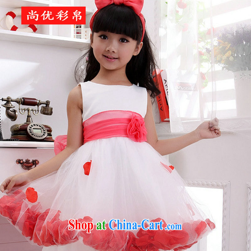 It is also optimized their children show their wedding dresses dress Princess birthday party Service XS 1010 white 10 yards
