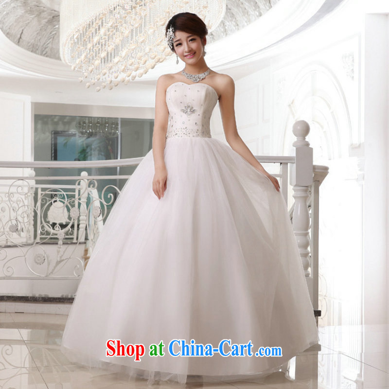 Taiwan's population 2014 Korean-style wedding dresses bride's bare chest flash strap wedding XS 19,177 package XXL white XL