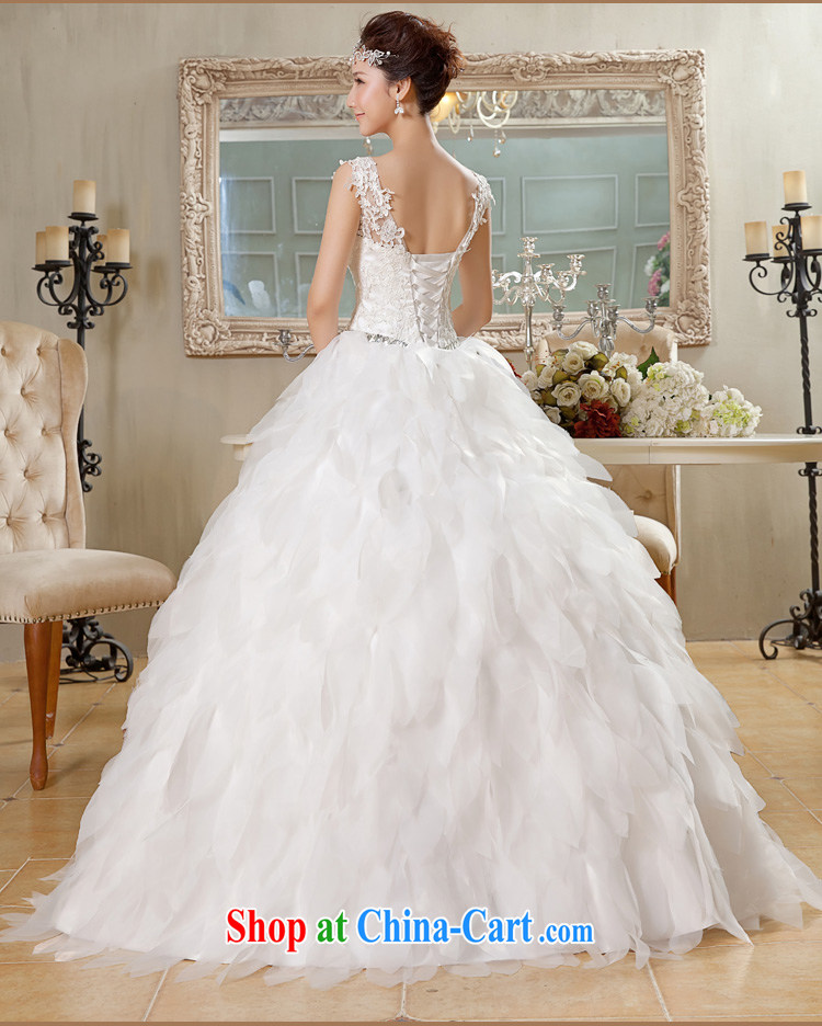 Jessica covers wedding new 2014 white Korean-style with dual shoulder strap V-neck feather wedding 2062 m White XL pictures, price, brand platters! Elections are good character, the national distribution, so why buy now enjoy more preferential! Health