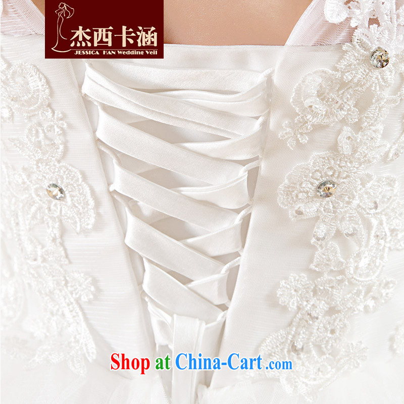 Jessica covers new 2014 version won a field package shoulder wedding lace Princess with strap wedding 2065 m White XL, Jessica (jessica han), and, on-line shopping