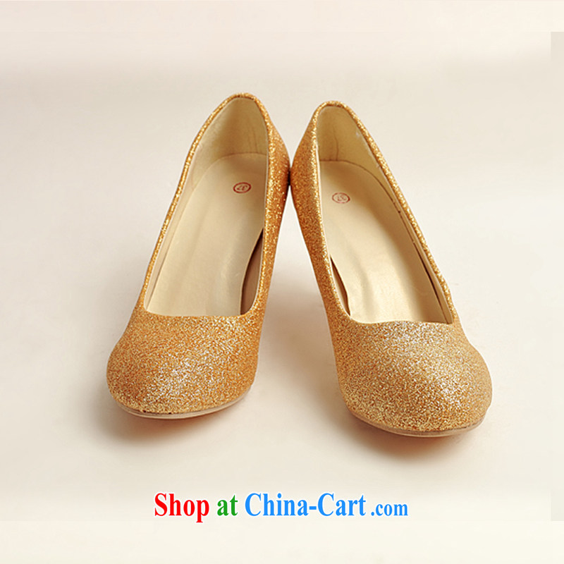 Diane M Ki wedding shoes wedding shoes bridal shoes dress shoes wedding shoes Ballroom shoes high heel gold performance shoe stage shoes gold 38