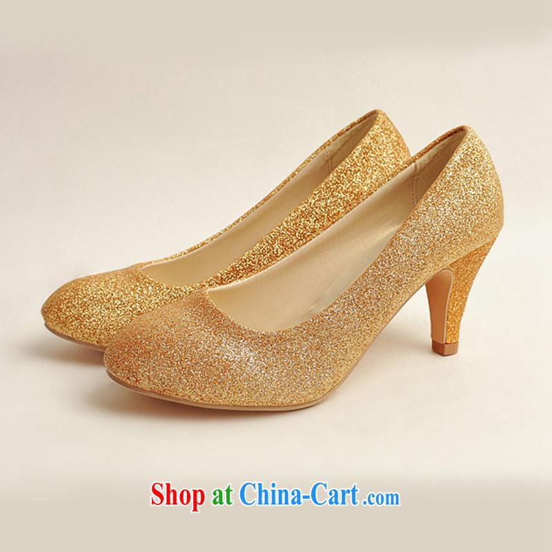 Diane M Ki wedding shoes wedding shoes bridal shoes dress shoes wedding shoes Ballroom shoes high heel gold performance shoe stage shoes gold 38, Diane M Ki, shopping on the Internet