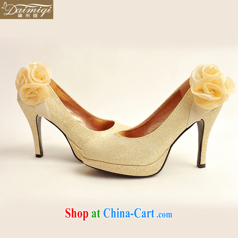Diane M Ki Korean bridal shoes 2014 new women high heel winter gold wedding shoes bridal shoes gold women wedding shoes gold 38