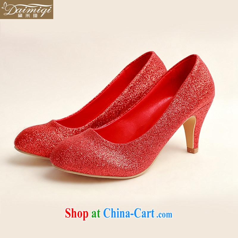 Diane M Ki wedding shoes wedding shoes bridal shoes dress shoes wedding shoes Ballroom shoes high heel red concert stage shoes shoes DXZ 1008 red 38