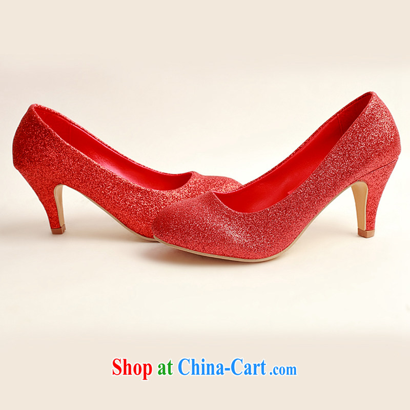Diane M Ki wedding shoes wedding shoes bridal shoes dress shoes wedding shoes Ballroom shoes high heel red concert stage shoes shoes DXZ 1008 red 38, Diane M Ki, shopping on the Internet