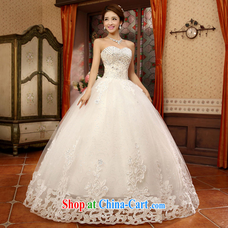 Optimize Philip Wong Yu-hong new chest only small drill debris flowers, Shaggy, wedding dresses XS 8063 m White XXL