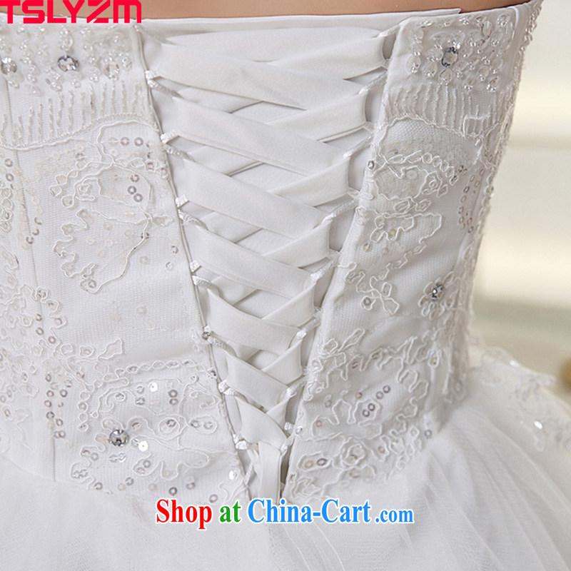 The angels, according to 2015 new Korean wedding dresses white long-tail boat brides erase chest Korean pregnant women the code wedding stylish tail wedding HS 224 white XXL, Tslyzm, shopping on the Internet