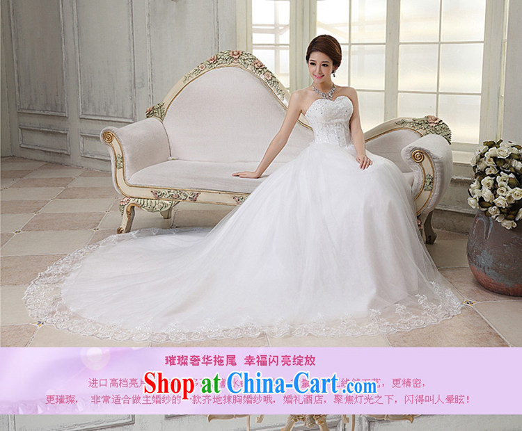 The angels, according to 2015 new Korean wedding dresses white long-tail boat brides erase chest Korean pregnant women the code wedding stylish tail wedding HS 224 white XXL pictures, price, brand platters! Elections are good character, the national distribution, so why buy now enjoy more preferential! Health