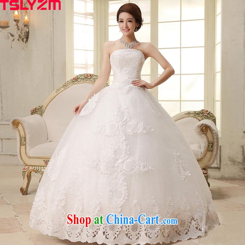 The angels, according to 2015 new Korean lace wiped chest white wedding dresses wedding dresses bridal straps wedding, wedding fashion HS 280 white XXL