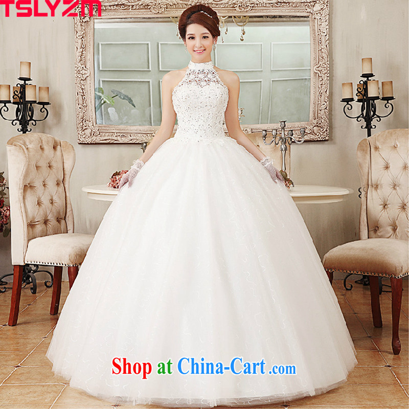 Tslyzm wedding dresses 2015 Korean Princess lace retro with spring and summer is also lace wood drill with white XXL