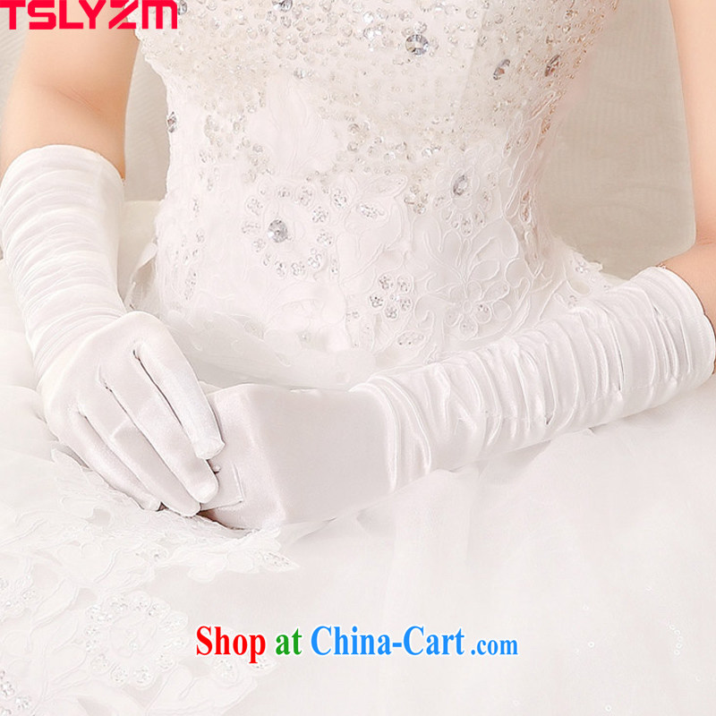 The angels, according to 2015 new white long Satin bridal gloves wedding in a simple and the wedding dresses gloves stylish white gloves bridal accessories,
